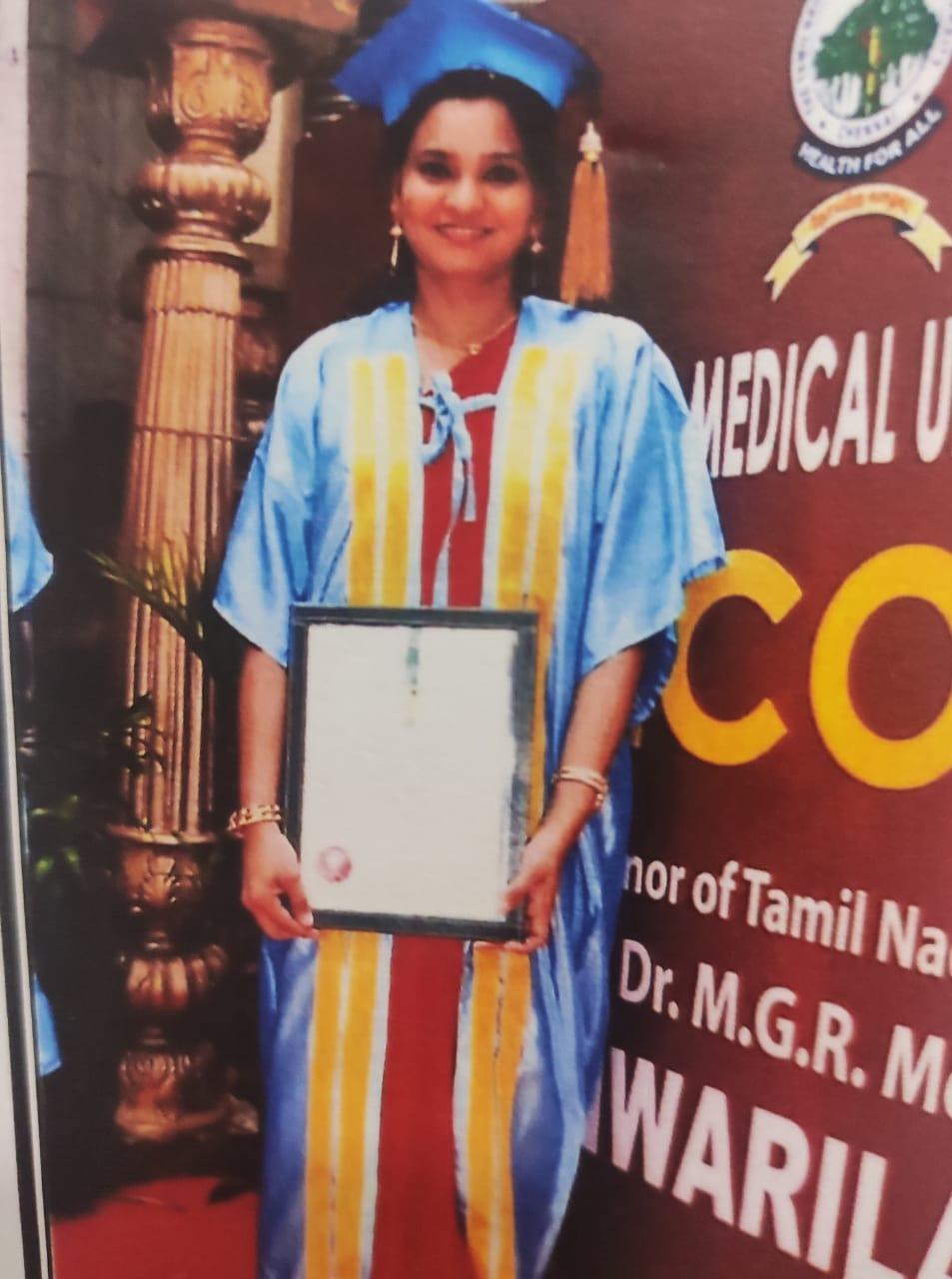 Dr. Sheerin - University Gold Medal - PG - Conservative Dentistry - 2019